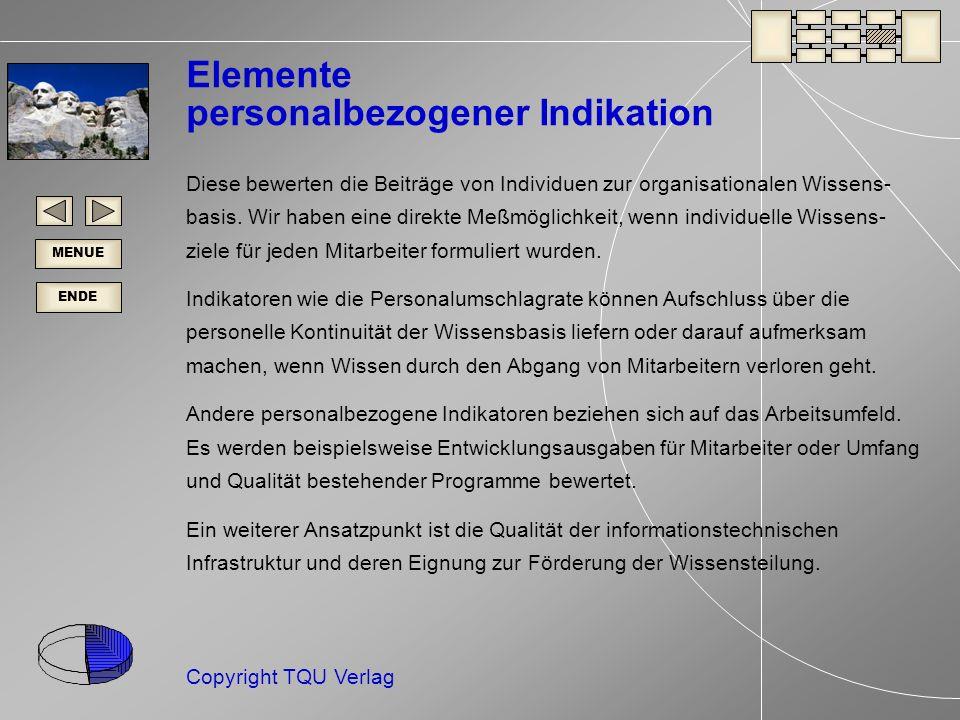 Elemente personalbezogener Indikation