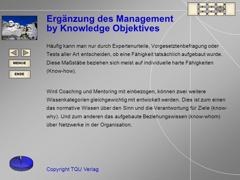 Ergänzung des Management by Knowledge Objektives