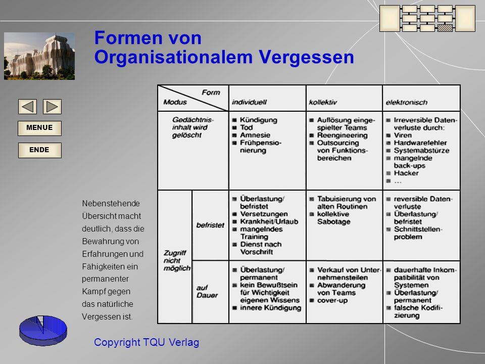 Formen von Organisationalem Vergessen