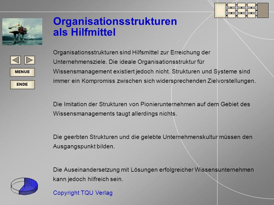 Organisationsstrukturen als Hilfmittel