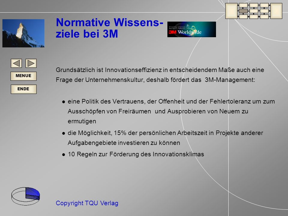 Normative Wissens- ziele bei 3M
