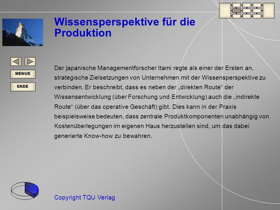 Wissensperspektive für die Produktion