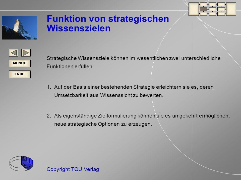 Funktion von strategischen Wissenszielen