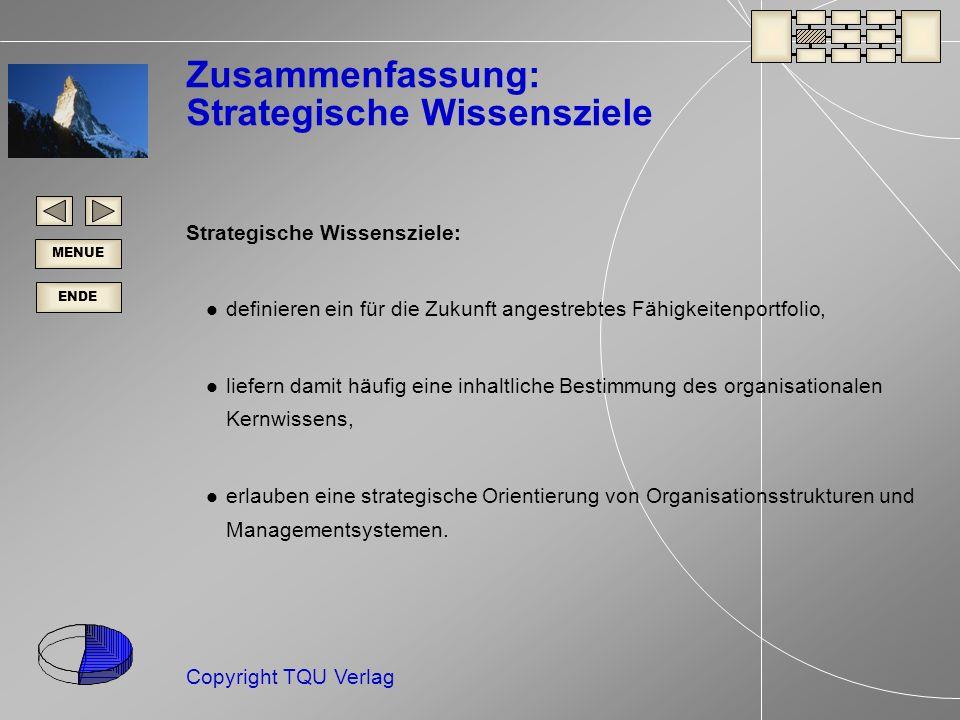 Zusammenfassung: Strategische Wissensziele