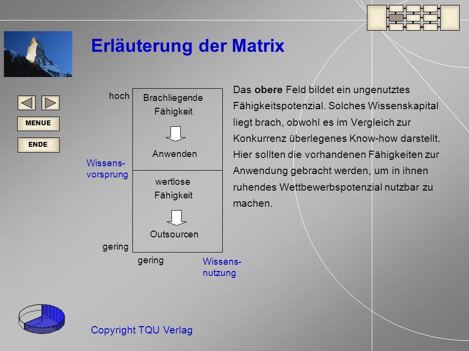 Erläuterung der Matrix