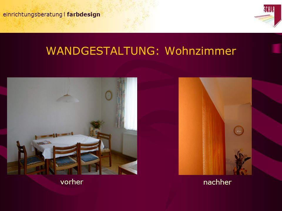 WANDGESTALTUNG: Wohnzimmer