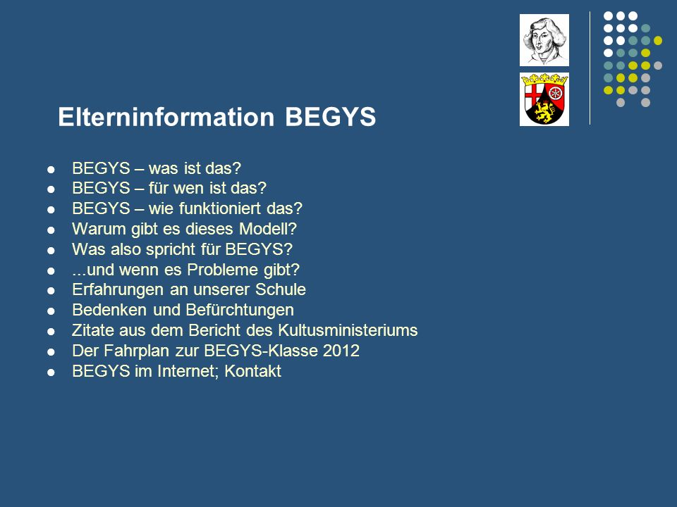 Elterninformation BEGYS