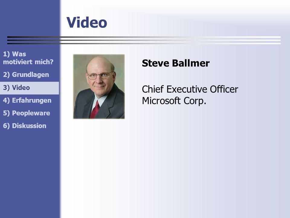 Video Steve Ballmer Chief Executive Officer Microsoft Corp.