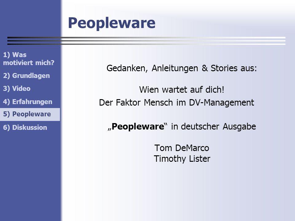 Peopleware Der Faktor Mensch im DV-Management