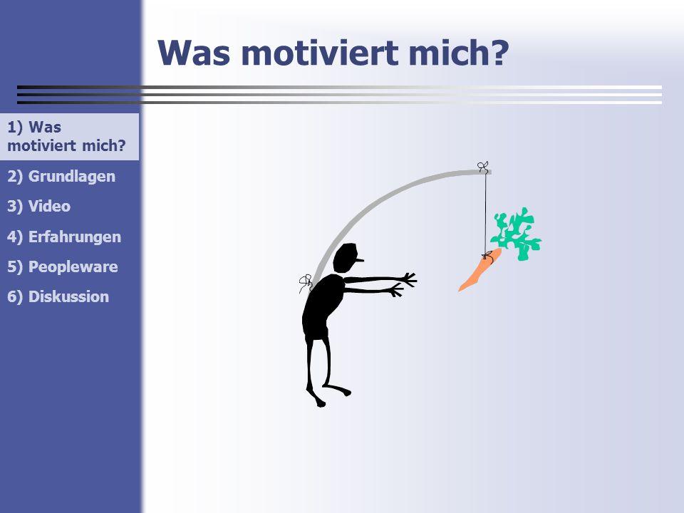 Was motiviert mich 1) Was motiviert mich 1) Was motiviert mich
