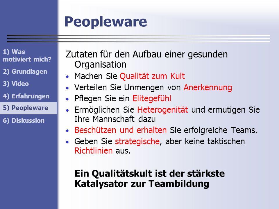 Peopleware Zutaten für den Aufbau einer gesunden Organisation