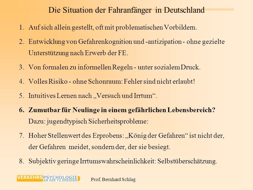Die Situation der Fahranfänger in Deutschland