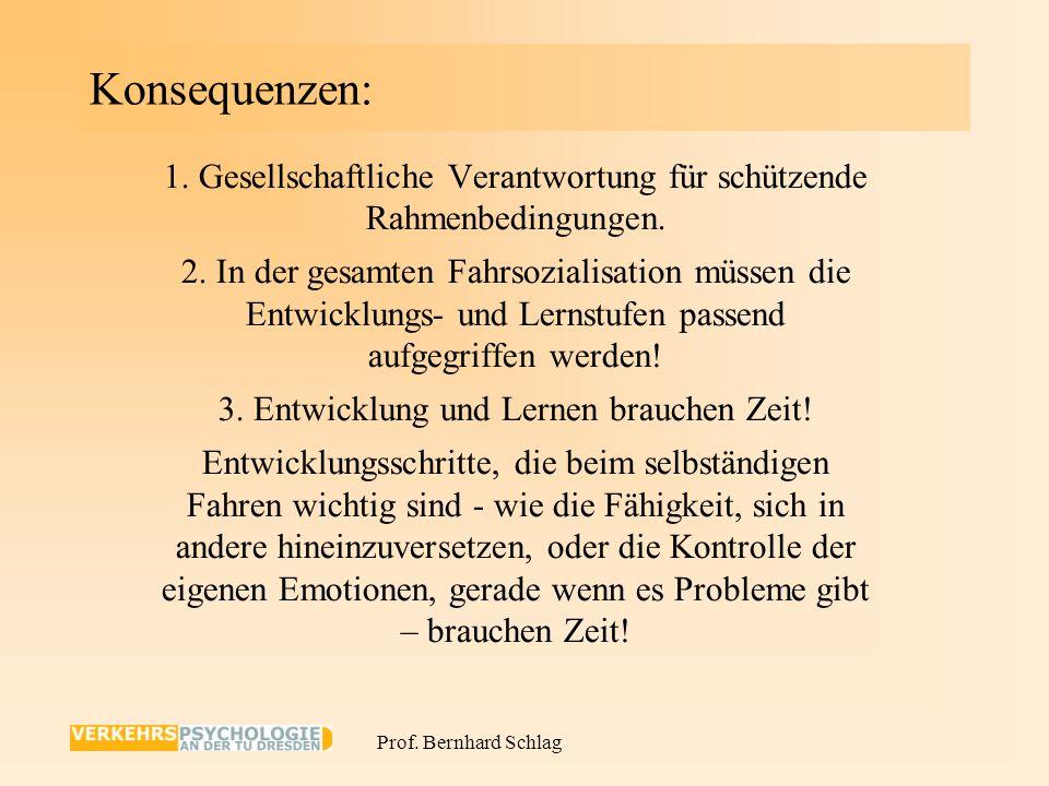 Konsequenzen: 1. Gesellschaftliche Verantwortung für schützende Rahmenbedingungen.