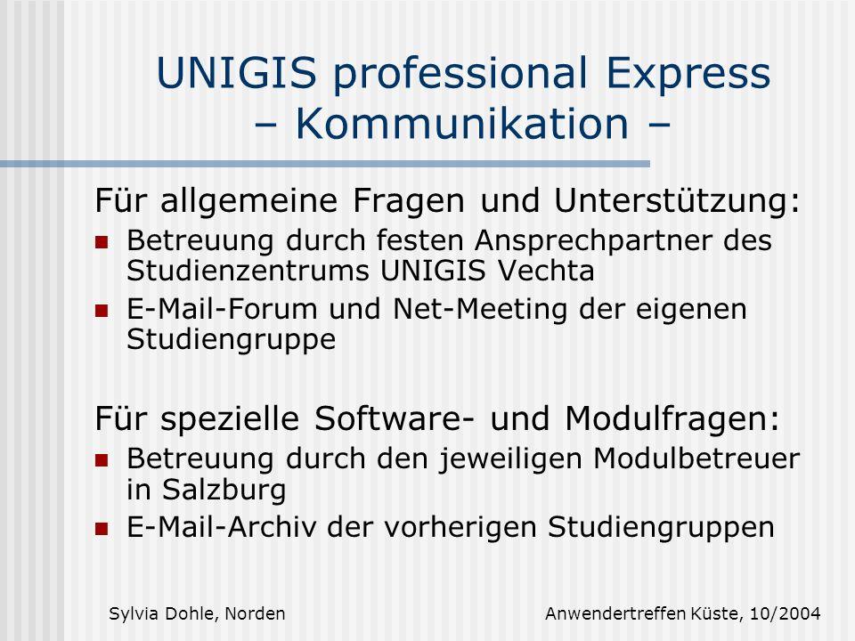 UNIGIS professional Express – Kommunikation –