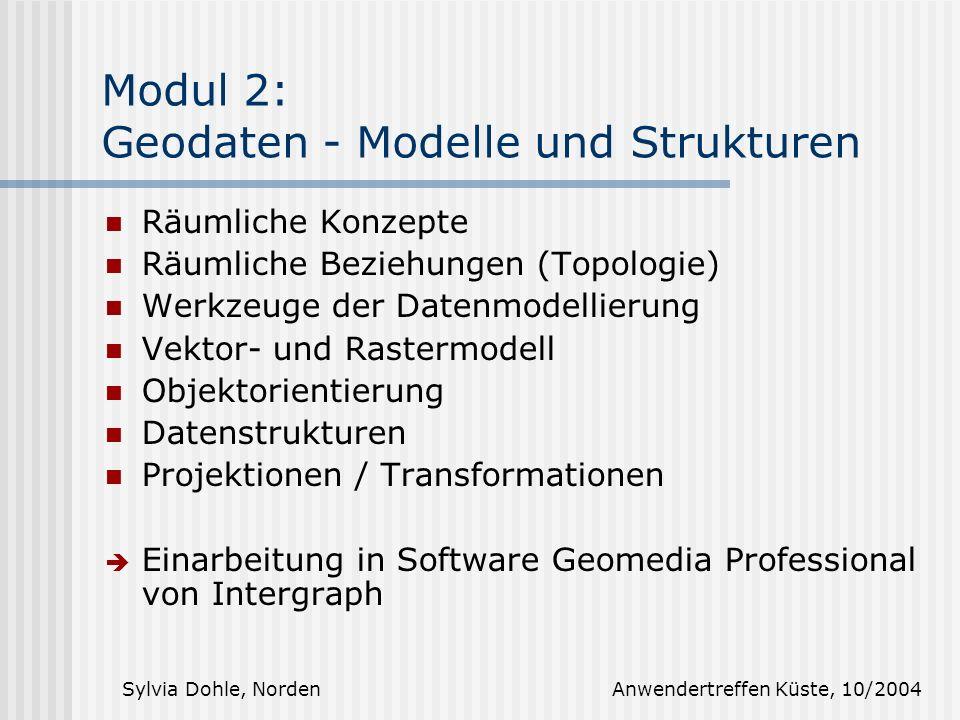 Modul 2: Geodaten - Modelle und Strukturen
