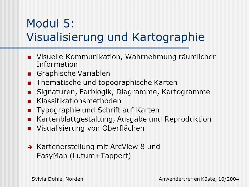 Modul 5: Visualisierung und Kartographie