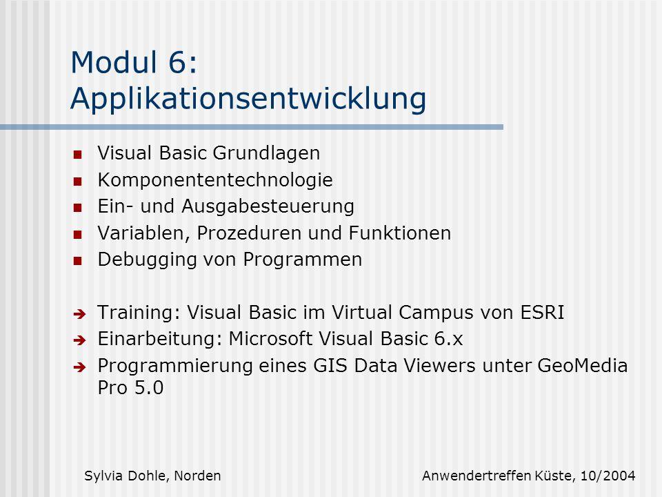 Modul 6: Applikationsentwicklung