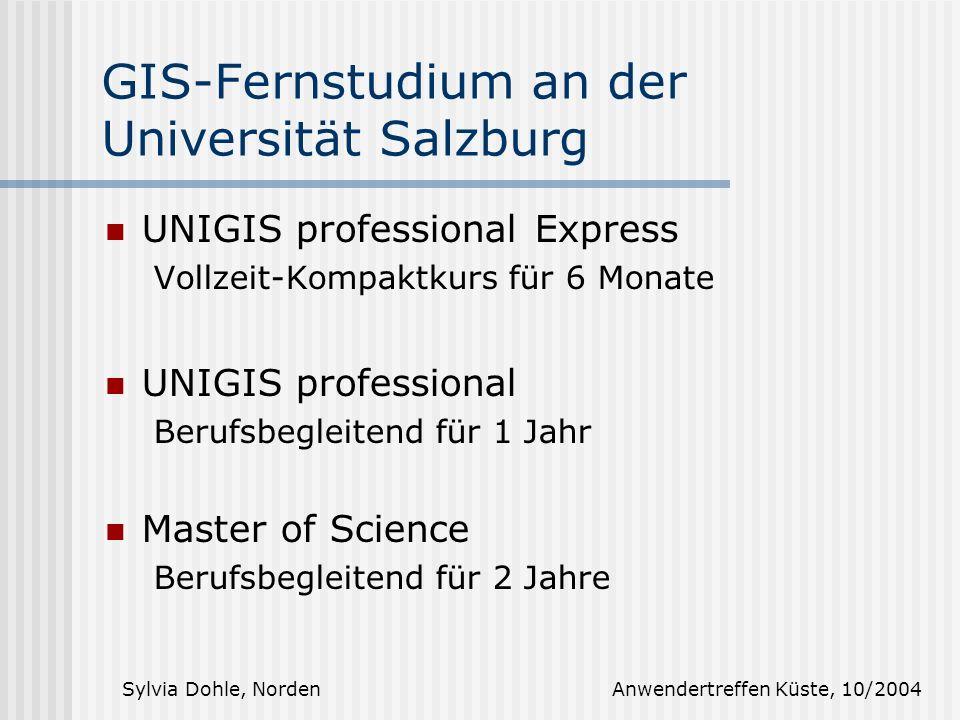 GIS-Fernstudium an der Universität Salzburg