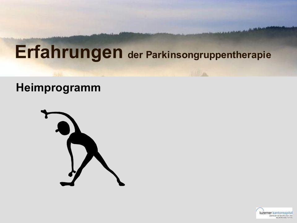 Erfahrungen der Parkinsongruppentherapie