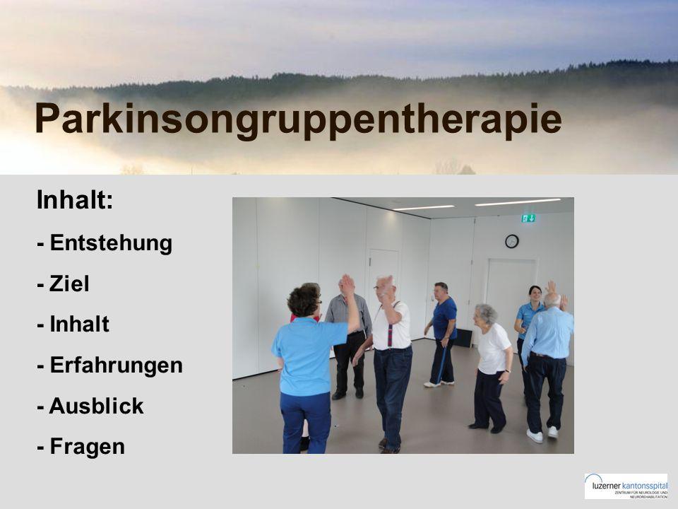 Parkinsongruppentherapie