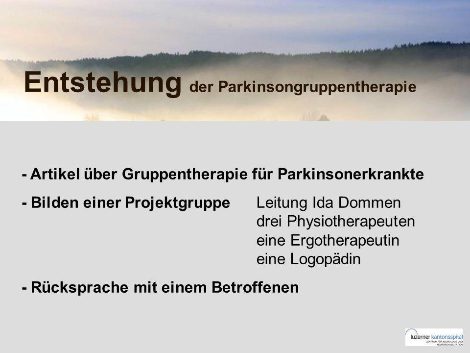 Entstehung der Parkinsongruppentherapie