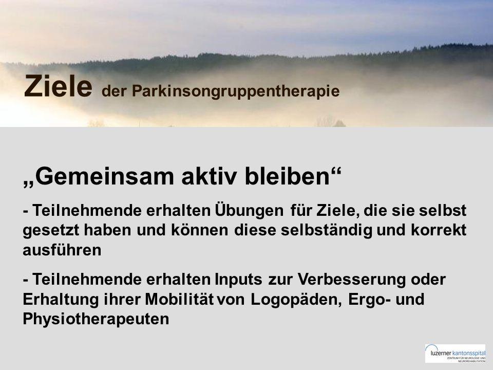 Ziele der Parkinsongruppentherapie