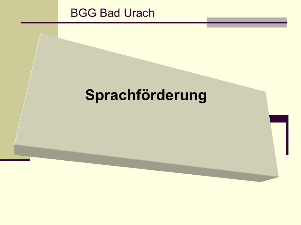 BGG Bad Urach Sprachförderung