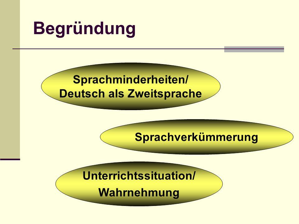 Deutsch als Zweitsprache Unterrichtssituation/