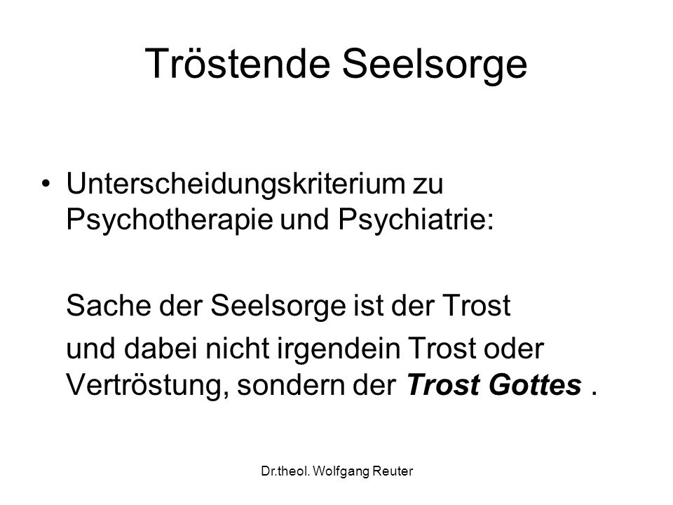 Dr.theol. Wolfgang Reuter