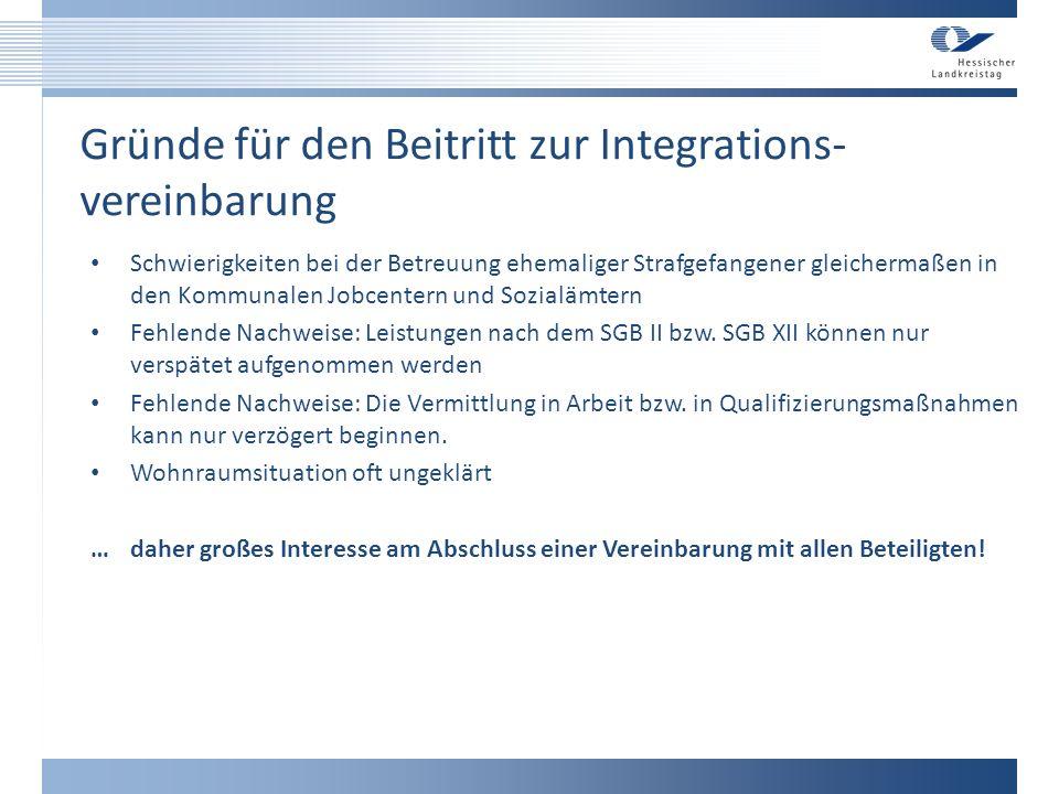Gründe für den Beitritt zur Integrations-vereinbarung