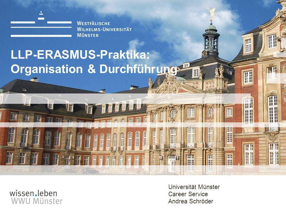 LLP-ERASMUS-Praktika: Organisation & Durchführung