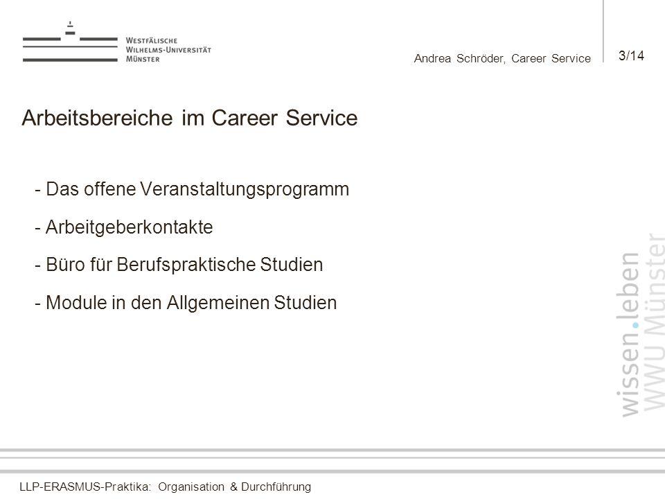Arbeitsbereiche im Career Service