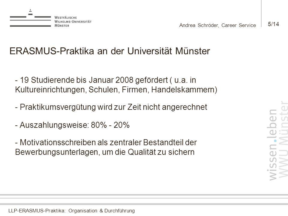 ERASMUS-Praktika an der Universität Münster
