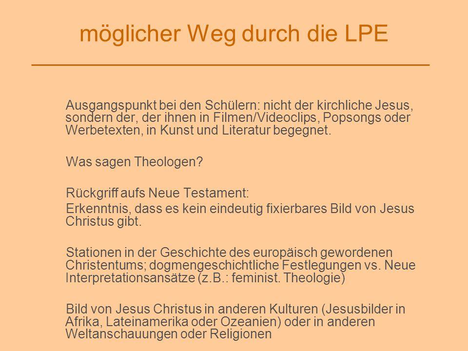 möglicher Weg durch die LPE