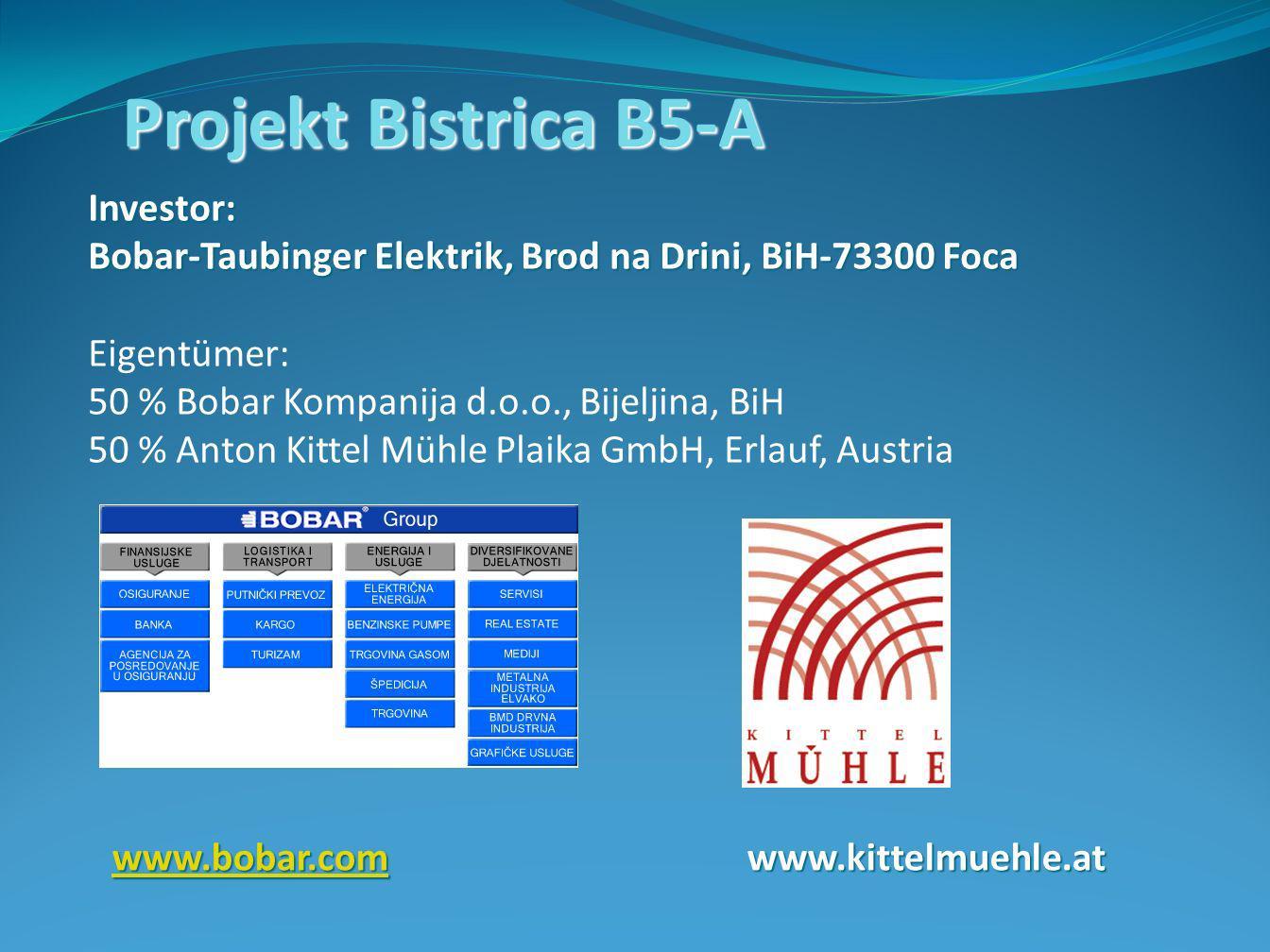 Projekt Bistrica B5-A Investor: