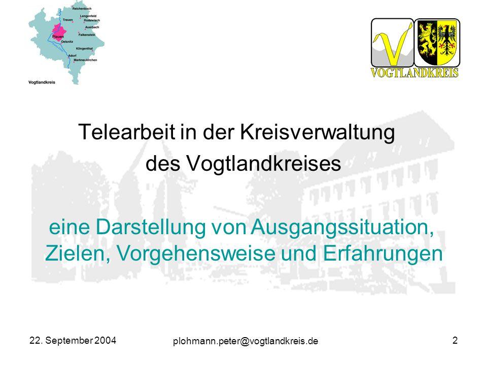 Telearbeit in der Kreisverwaltung des Vogtlandkreises
