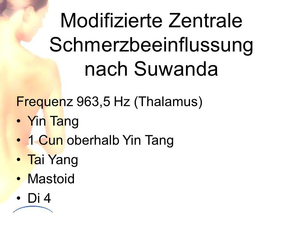 Modifizierte Zentrale Schmerzbeeinflussung nach Suwanda