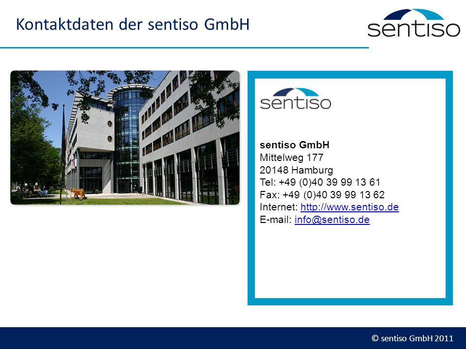 Kontaktdaten der sentiso GmbH
