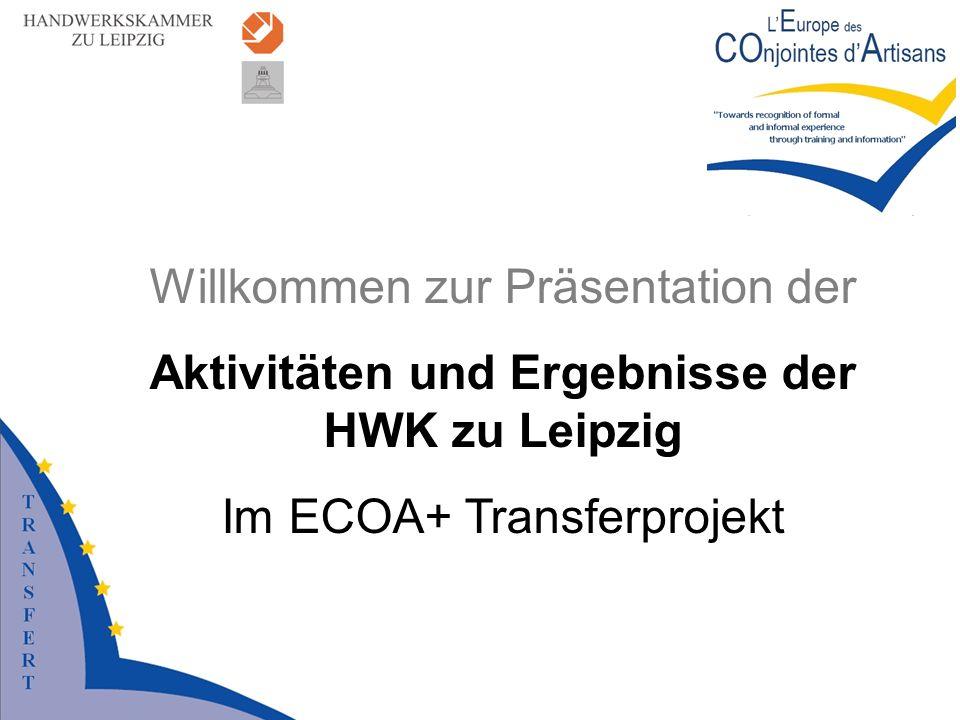 Aktivitäten und Ergebnisse der HWK zu Leipzig