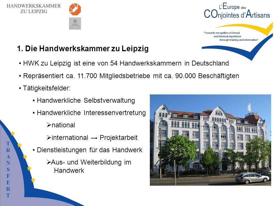 1. Die Handwerkskammer zu Leipzig