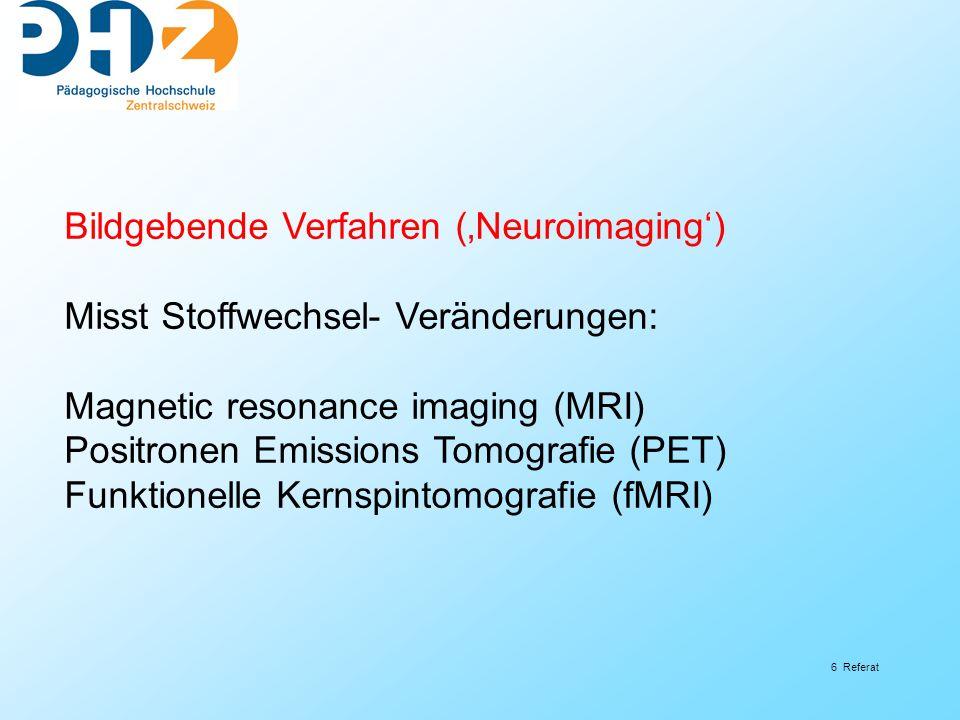 Bildgebende Verfahren ('Neuroimaging')