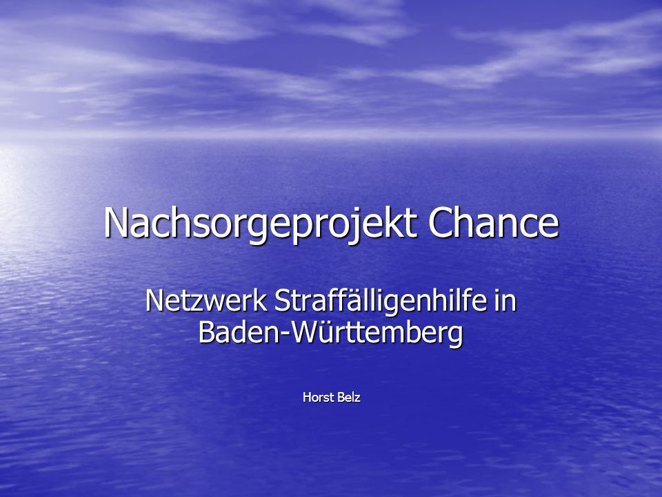 Nachsorgeprojekt Chance