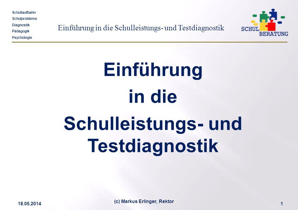 Schulleistungs- und Testdiagnostik (c) Markus Erlinger, Rektor