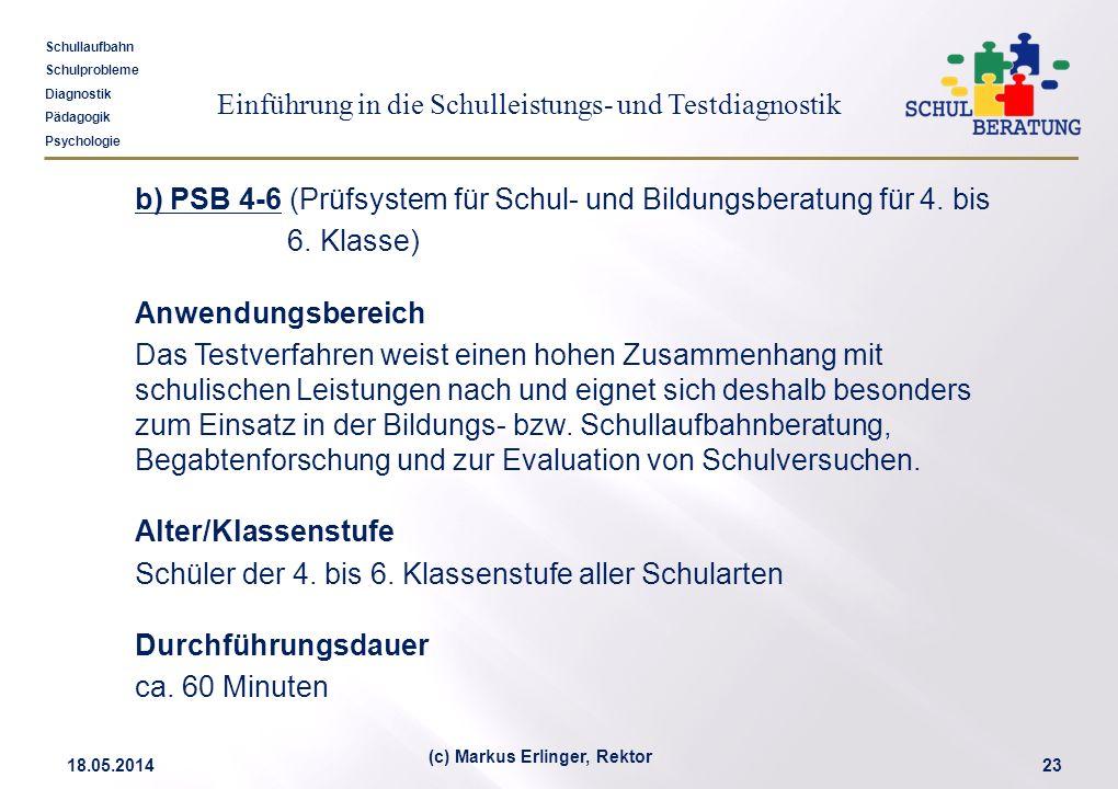 (c) Markus Erlinger, Rektor
