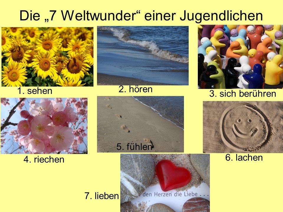 """Die """"7 Weltwunder einer Jugendlichen"""