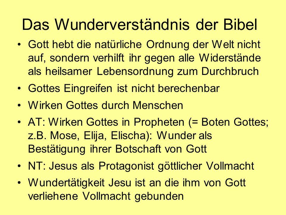 Das Wunderverständnis der Bibel