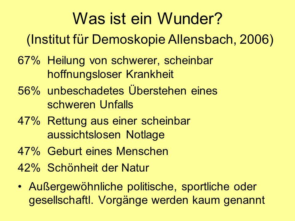 Was ist ein Wunder (Institut für Demoskopie Allensbach, 2006)