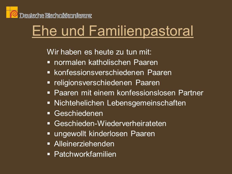 Ehe und Familienpastoral