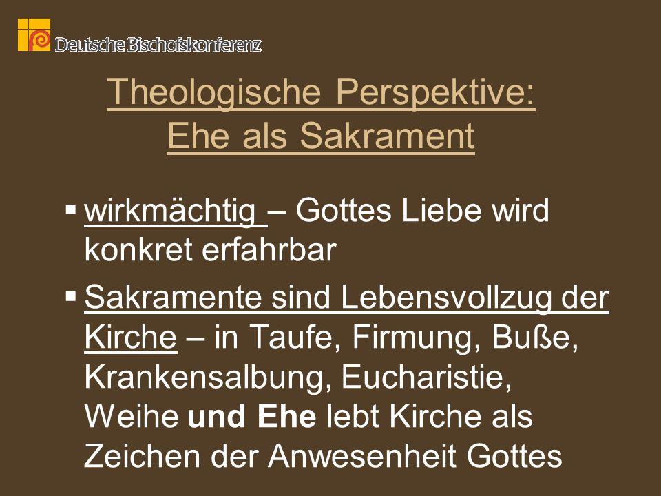 Theologische Perspektive: Ehe als Sakrament