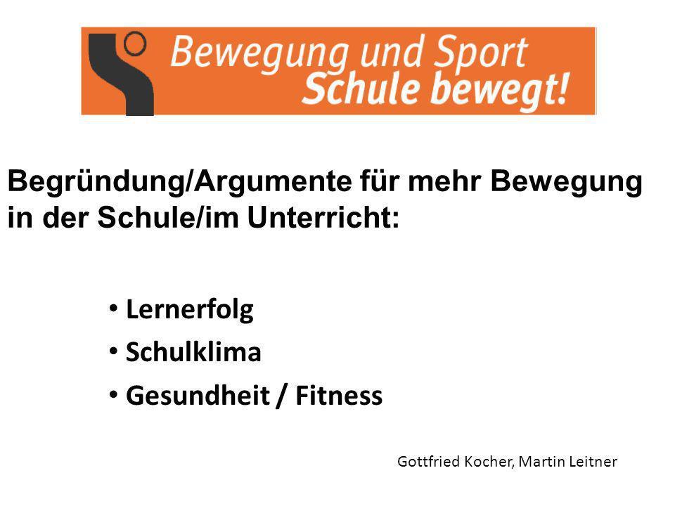 Lernerfolg Schulklima Gesundheit / Fitness